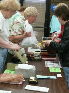 Friends at booksale