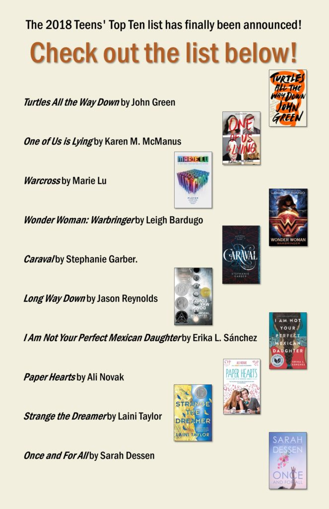 2018 Teens Top 10 List Of Books Newton Public Library