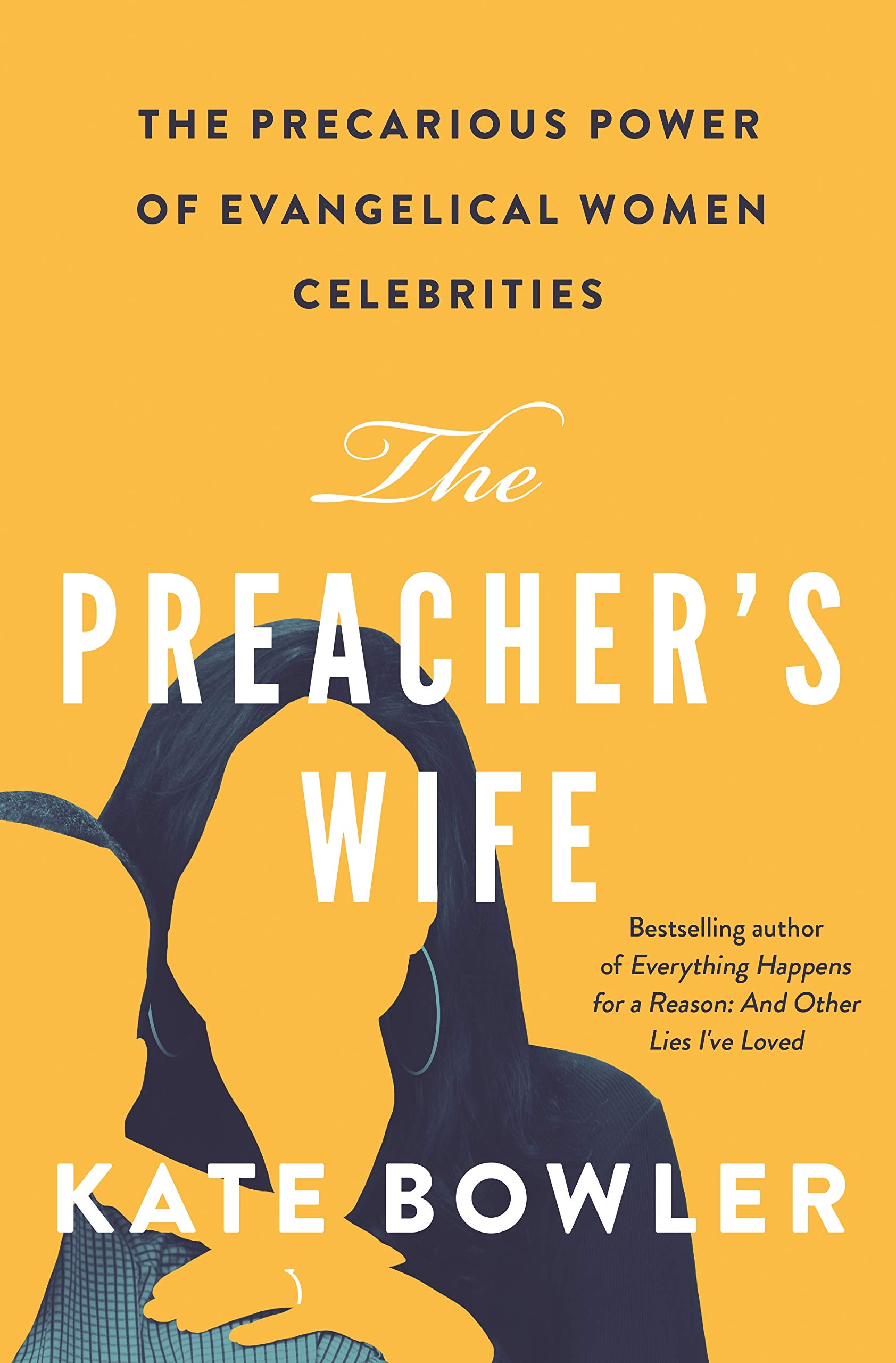 Cover of The Preacher's Wife. A silhouetted female figure places her hand on the shoulder of a male figure.