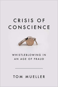 Cover of crisis of conscience. Close-up photo of a whistle on a white background.