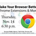 Flyer for Make Your Browser Better event, 6:30 p.m. November 14..