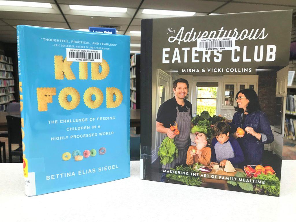 """Covers of """"Kid Food"""" and """"The Adventurous Eaters Club"""""""