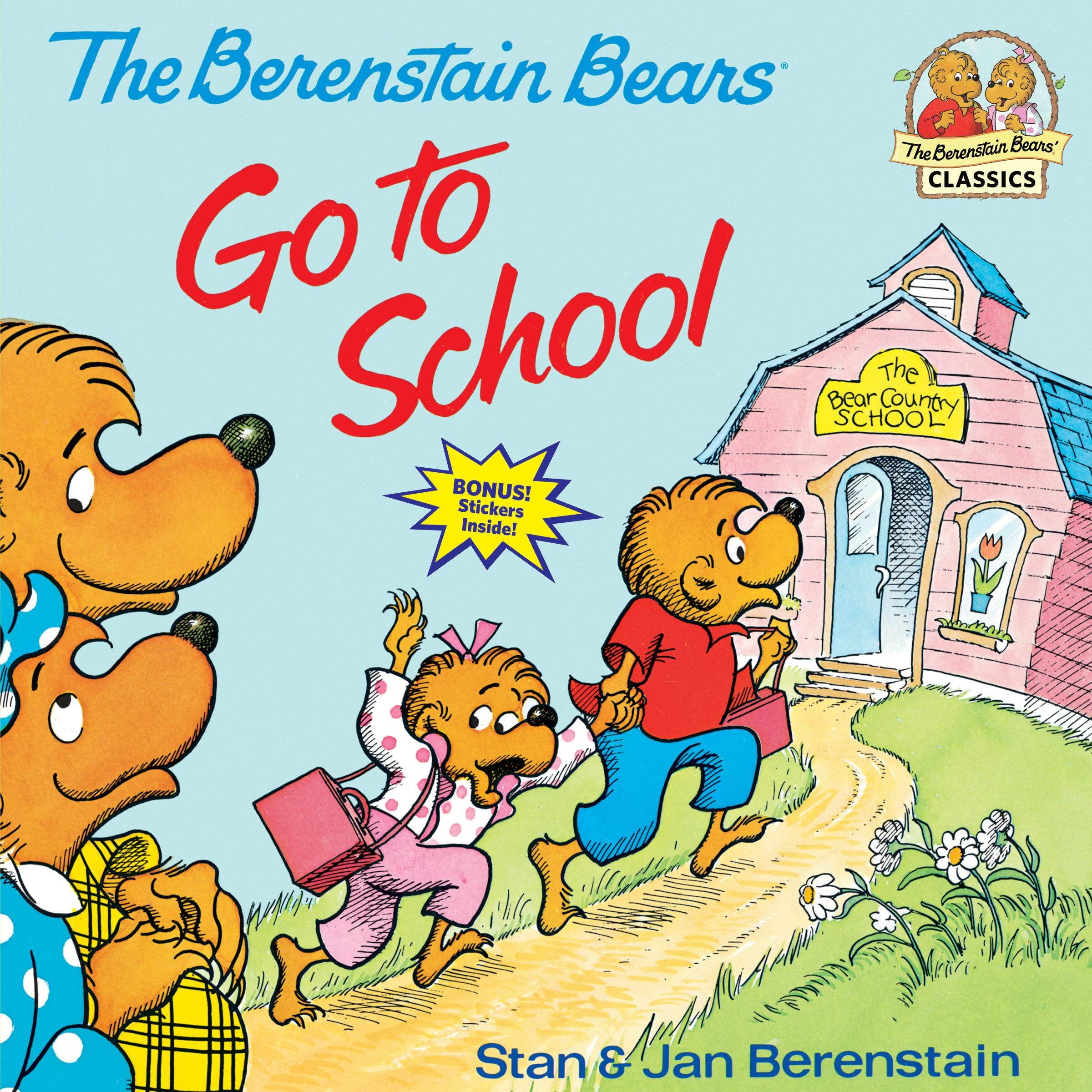 Cover of The Berenstain Bears Go to School.