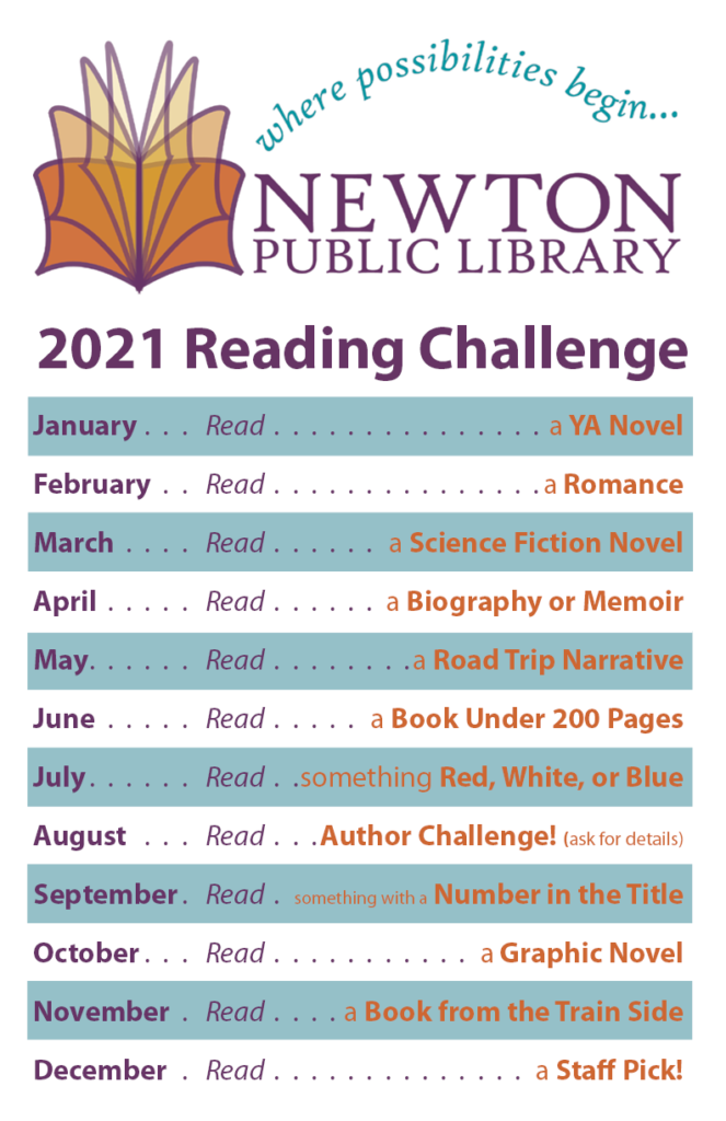 Formatted list of 2021 Reading Challenge prompts.