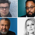 Grid of photos of Ben Lerner, Kevin Young, Kevin Willmott and Sarah Smarsh.